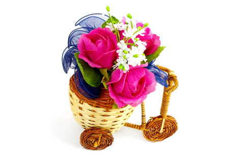 Decorative bicycle vase with flowers