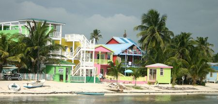 Seaside town in Belize photo