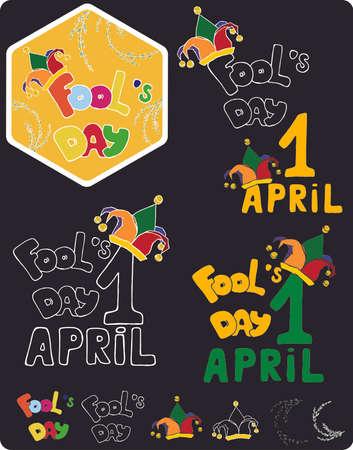 april: april fools day. hand drawing