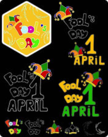 april: april fools day. hand drawing.