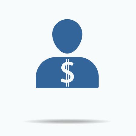 People Icon - Money, Finance etc.Flat icon, One of set web icons. 向量圖像
