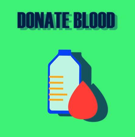rh: Blood donation, medicine help hospital, save life, flat style, minimal