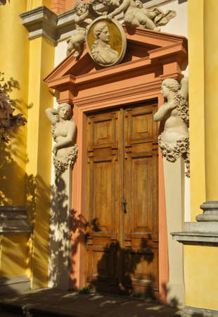 Royal Wilanow Palace in Warsaw, Poland.