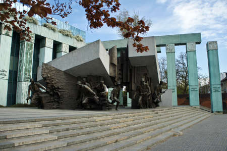 Warsaw Uprising Monument in Warsaw city.