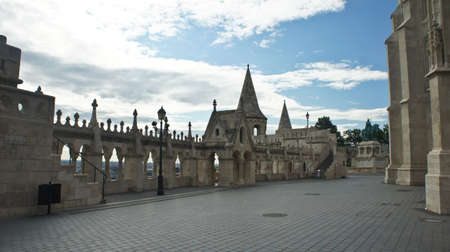 View of Fisherman's Bastion, Castle hill in Buda, beautiful architecture Stockfoto - 151096877