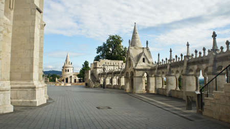 View of Fisherman's Bastion in the morning, Castle hill in Buda Stockfoto - 151096879
