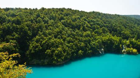 Top panoramic view of Plitvice Lakes, beautiful nature of National Park in Croatia Reklamní fotografie