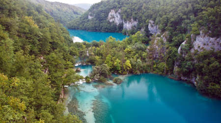 view of Plitvice Lakes, National Park in Croatia