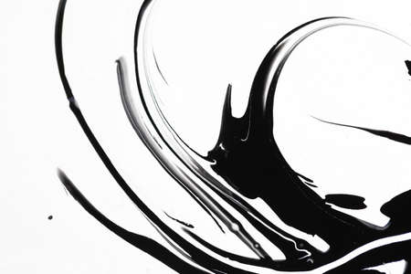 Abstract liquid black and white colors outer space background. Stock fotó