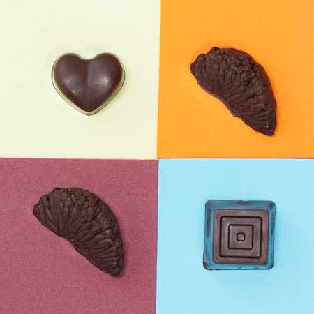 luxury handmade candy with chocolate