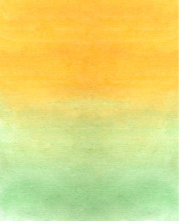 Beautiful bright watercolor drawing of flowing mix of yellow and green colors. Cheerful light background for writing words, textiles, skicker, fabric coloring. Color scheme or pattern. Background for presentation or letter
