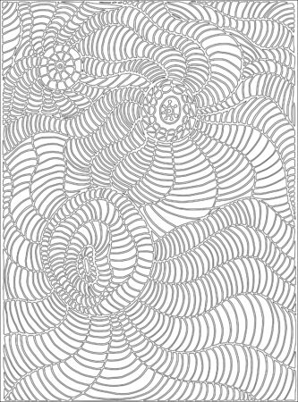 Coloring page line, doodle style art, for children and adults. Vector hand drawing surrealistic background.