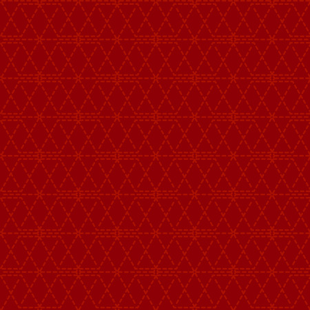 Dotted line geometric seamless pattern, red outline and dark red background color. Abstract texture design. Vector vintage asian style.