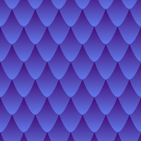 Scaly skin seamless pattern, colorful gradient in blue and dark violet color. Dragon skin abstract texture effect. Vector decorative fantasy skin background of mythical fantastic animal skin.