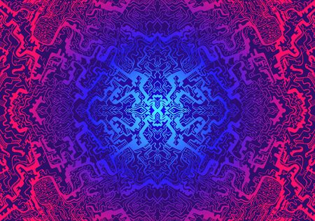 Vintage hypnotic shamanic psychedelic acid pattern. Vector hand drawn design style. Mystic abstract background, hippie and boho texture. Tribal trippy wallpaper.