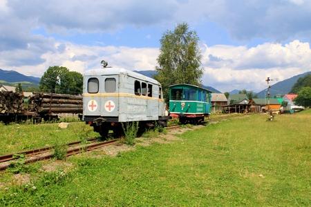 narrow gauge railroad: Old narrow-gauge railway in Transcarpathia