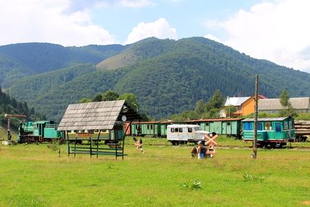 narrowgauge: Old narrow-gauge railway in Transcarpathia