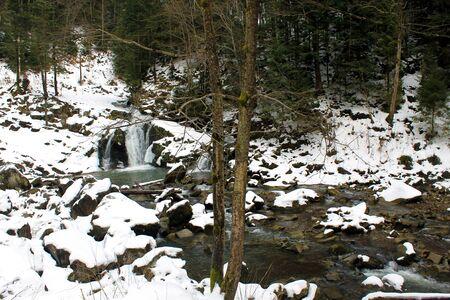 murmur: Carpathian winter waterfall
