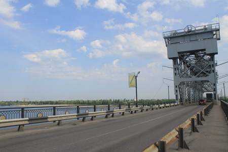 the dnieper: Bridge across the Dnieper River