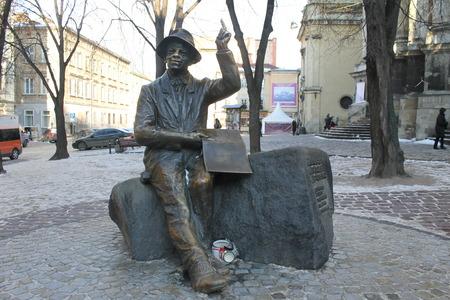 lviv: Monument of Nikifor Epifaniusz Drowniak in Lviv