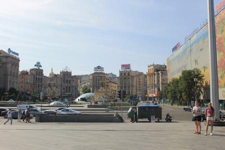 kiev: Independence square in Kiev Editorial
