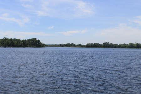 the dnieper: Dnieper river in Ukraine Stock Photo