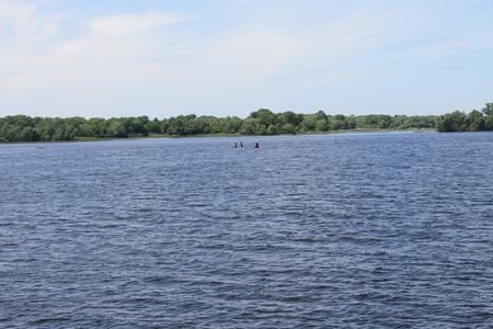 ukraine: Dnieper river in Ukraine Stock Photo