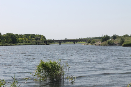 ukraine: River Saksagan in Ukraine Stock Photo