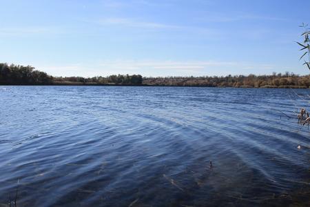 the dnieper: Dnieper river at autumn