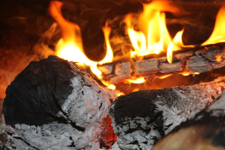 llamas de fuego: Fire. Burning wood