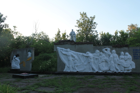 winning location: Monument to fallen soldiers in Ukraine. Mass grave Editorial
