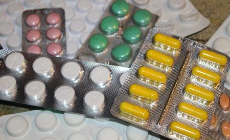 blister: Pills in blister pack Stock Photo