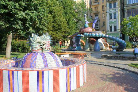 kiev: Zebras fountain in Kiev