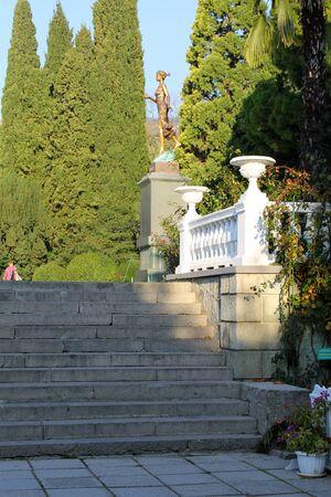flora: Flora statue in Crimea Stock Photo