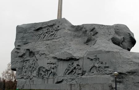 heroism: Monument in Brest fortress, Belarus