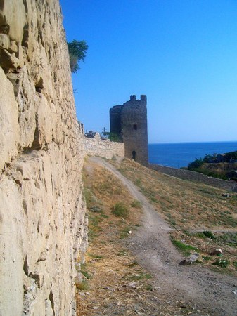 genoese: Genoese fortress in Feodosia