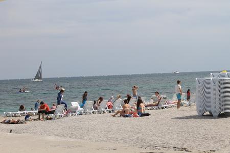 odessa: Beach in Odessa, Ukraine Editorial
