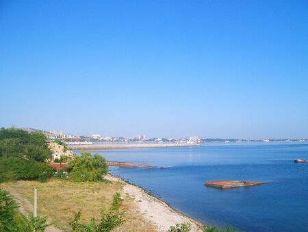 wrack: Black sea coast in Feodosia