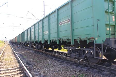 freight train: KREMENCHUG, UKRAINE - MAY 2, 2016: Freight train
