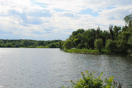 irradiate: Beautiful lake on summer Stock Photo