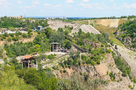 extraction: Extraction of mineral resources in the quarry