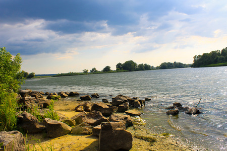 Storm clouds over the river Dnieper