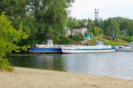 moored: Old vessels moored in harbor