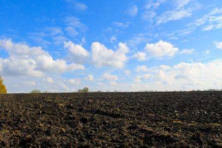 plowed: Plowed field on autumn Stock Photo