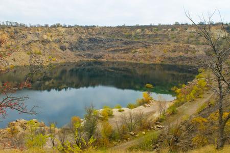 pit fall: Lake at abandoned quarry