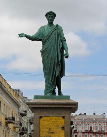 duke: Monument to Duke de Richelieu in Odessa, Ukraine