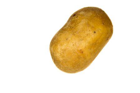 russet potato: One potato isolated on the white background Stock Photo