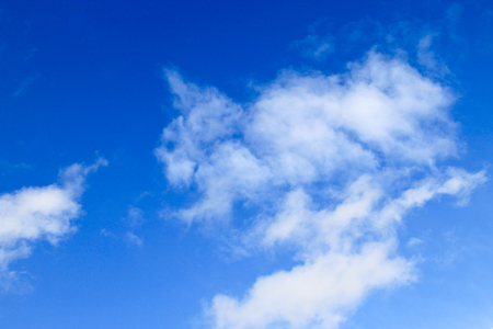 White clouds in blue sky Stock Photo