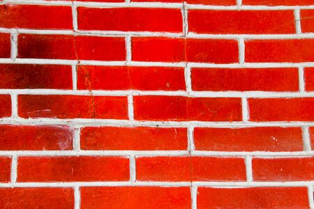 Background of the red brick wall