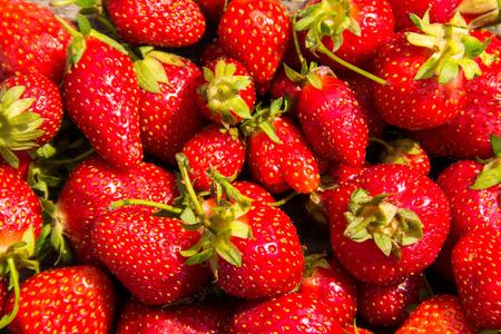 Ripe fresh strawberry background